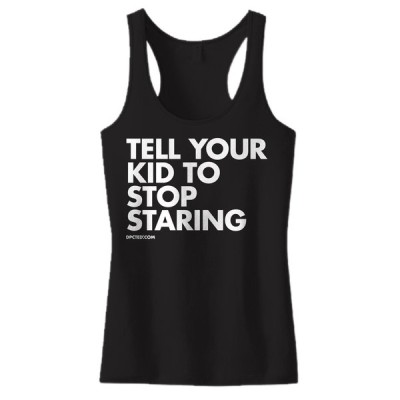 Tシャツ レディース 海外セレクション Women's DPCTED Tell Your Kid To Stop Staring Tank Top Inked Tattooed Ink ブラック