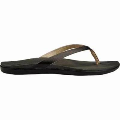 オルカイ サンダル・ミュール Olukai Hoopio Leather Sandal Onyx/Black