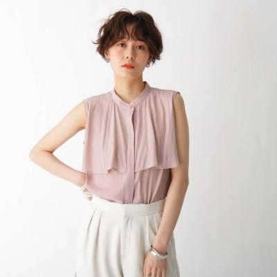 エージー バイ アクアガール AG by aquagirl フレアデザインノースリブラウス【WEB限定サイズ】 (ピンク)