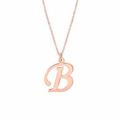 CHOROY Script Rose Gold Initial Necklace 26 Alphabet Letter Pendant Necklace Name Necklace for Women Girls Bridesmaid Jewelry Gi