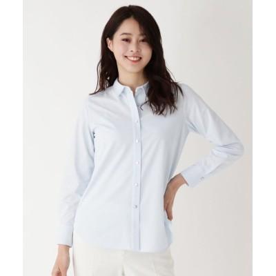 【エッシュ】 バックプリーツショートカラーシャツ レディース サックス 40(M/ミセス) esche