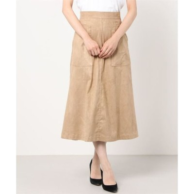 スカート SHIPS any: Aラインエコスエードポケットスカート