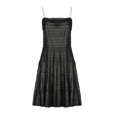 エンポリオ アルマーニ EMPORIO ARMANI ミニワンピース&ドレス ブラック 38 山羊革 100% ミニワンピース&ドレス