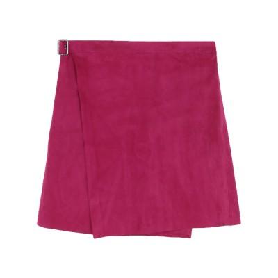 セオリー THEORY ひざ丈スカート フューシャ 6 羊革(ラムスキン) 100% ひざ丈スカート