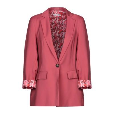 ANGELA MELE MILANO テーラードジャケット レンガ XS レーヨン 89% / ポリエステル 11% テーラードジャケット