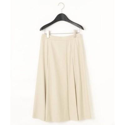 COMME CA / コムサ ラップ風Aラインフレアースカート
