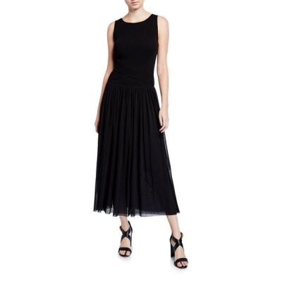 フィッジ レディース ワンピース トップス Sleeveless Wrap Waist Full Skirt Long Dress