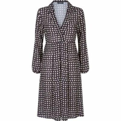 ジュームズ レイクランド James Lakeland レディース ワンピース Vネック ワンピース・ドレス V-Neck Geo Print Dress Black/Beige