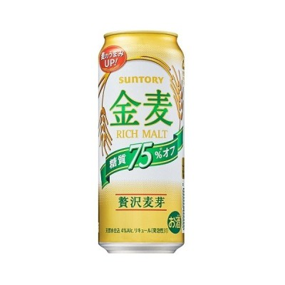 【リニューアル発売 順次切替】サントリー 金麦〈糖質75%オフ〉500ml1ケース(24本)