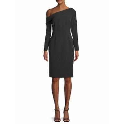 アレクシアアドモール レディース ワンピース Classic Long-Sleeve One-Shoulder Dress