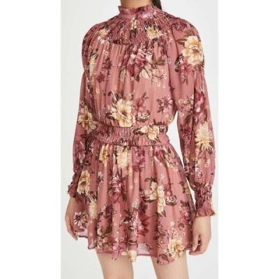 エン セゾン En Saison レディース ワンピース ワンピース・ドレス Floral Print Mini Dress With Long Sleeves Pink