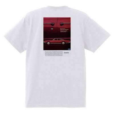 アドバタイジング フォード 742 白 Tシャツ 黒地へ変更可 1967 サンダーバード ギャラクシー ファルコン フェアレーン マスタング ランチェロ