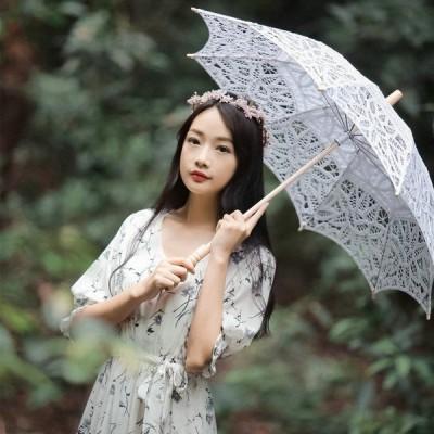 シフォンワンピースベルト付きチュール小花柄5分袖超人気