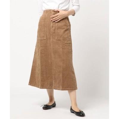 スカート コーデュロイベーカーロングスカート