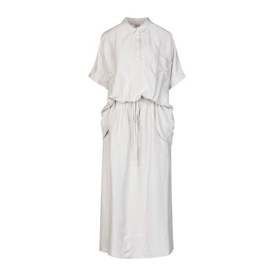 CREA CONCEPT ロングワンピース&ドレス ライトグレー 38 レーヨン 76% / リネン 24% ロングワンピース&ドレス