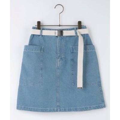 レイカズン(RAY CASSIN)/デニムベルト付台形スカート