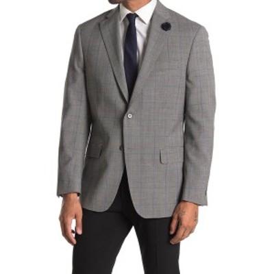 ハートシャファネールマークス メンズ ジャケット&ブルゾン アウター Black White Blue Windowpane Print Two Button Notch Lapel Wool