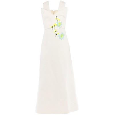 デルポゾ DELPOZO 7分丈ワンピース・ドレス アイボリー 40 コットン 100% 7分丈ワンピース・ドレス