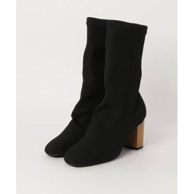 GeeRA / 吸いつくようなフィット感リブニットブーツ WOMEN シューズ > ブーツ