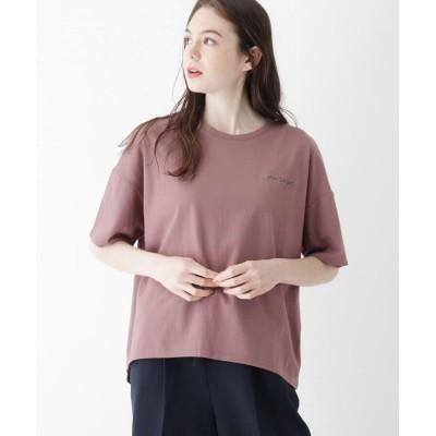SHOO・LA・RUE/DRESKIP(シューラルー/ドレスキップ) 【M-L】CourageエンブロイダリーTシャツ