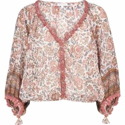 プーペット セント バース Poupette St Barth レディース ブラウス・シャツ トップス Floral cotton blouse White Pink Celery
