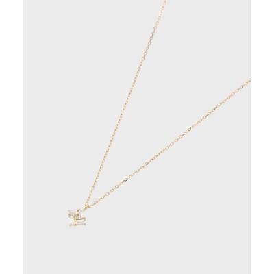 COCOSHNIK(ココシュニック) K18ダイヤモンド バゲットカットひし形 ネックレス