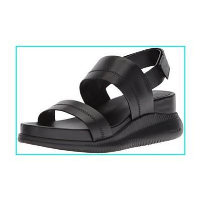 Cole Haan Women's 2.Zerogrand Slide Sandal Sport, Black Leather, 11 B US【並行輸入品】