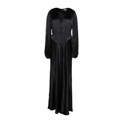 ガニー GANNI ロングワンピース&ドレス ブラック 36 レーヨン 100% ロングワンピース&ドレス