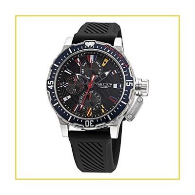 Nautica Men's Stainless Steel Quartz Silicone Strap, Black, 22 Casual Watch (Model: NAPGLF009)並行輸入品