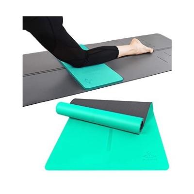 送料無料![Buy Together] Heathyoga Yoga Knee Pad, Alignment Yoga Mat Non Slip Yoga Mat