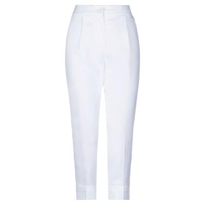 アルファスタジオ ALPHA STUDIO パンツ ホワイト 40 コットン 98% / ポリウレタン 2% パンツ