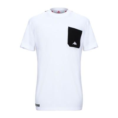 カッパ KAPPA T シャツ ホワイト S コットン 100% T シャツ