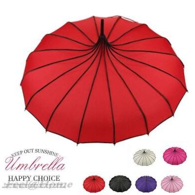 傘 長傘 16本骨 晴雨兼用 日傘 雨傘 軽量 丈夫 ワイド 紫外線対策 撥水 花柄 グラスファイバー 強風 風に強い 長傘 雨具 超軽量