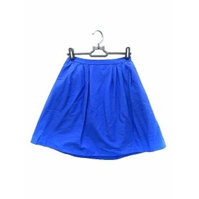 【中古】ロペピクニック ROPE Picnic スカート ミニ フレア 36 青 ブルー /AAO20 レディース
