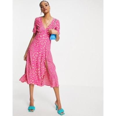 フレンチコネクション レディース ワンピース トップス French Connection Bonita mixed print maxi dress