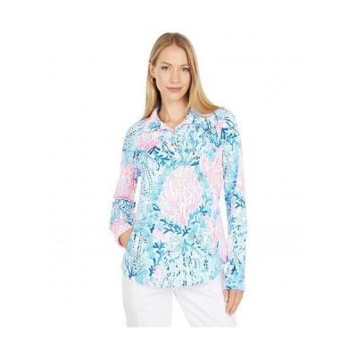 Lilly Pulitzer リリーピューリッツァー レディース 女性用 ファッション パーカー スウェット UPF 50+ Captain Popover - Resort White Sway With Me