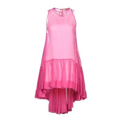 ヌメロ ヴェントゥーノ N°21 ミニワンピース&ドレス フューシャ 38 シルク 100% ミニワンピース&ドレス