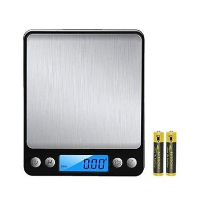 最新版 はかり デジタルスケール 高精度計量器 電子秤 はかり皿はかり 計量範囲0.01g -~500g 個数計量機能 風袋引き機能 業務用 プロ用