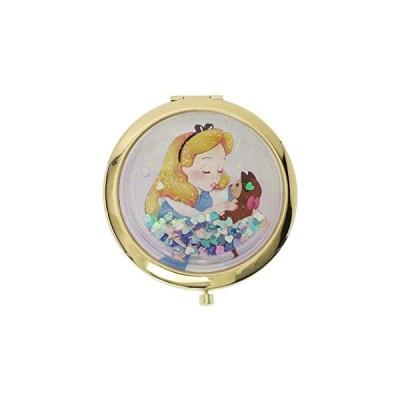 ふしぎの国のアリス[手鏡]コンパクトミラー/ハート&ラメ ディズニー(キャラクター グッズ)