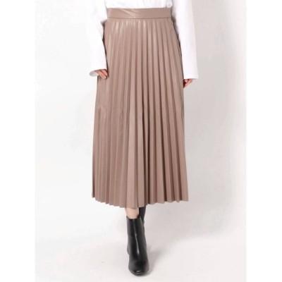 【ダズリン/dazzlin】 レザーライクプリーツスカート