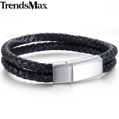 ブレスレット 黒 ブラック 青 ブルー 茶色 ブラウン 磁気 レザー サーフ