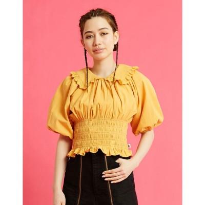 リトルサニーバイト little sunny bite puff sleeve short blouse (YELLOW)
