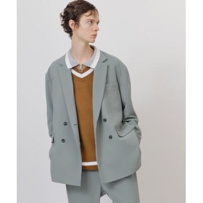 EMMA CLOTHES / 梨地ルーズリラックス ドレープ オーバーサイズ ダブルテーラードジャケット/EMMA CLOTHES(セットアップ対応) MEN ジャケット/アウター > テーラードジャケット