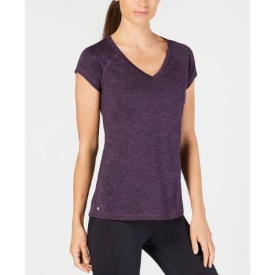 イデオロギー Ideology レディース Tシャツ トップス Rapidry Heathered Performance T-Shirt Midnight Purple