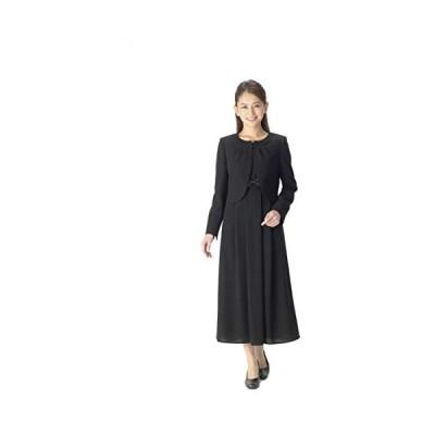 (マーガレット)marguerite m467 レディース ブラックフォーマル ロング丈 喪服 礼服 アンサンブル (ブラック 11 号)
