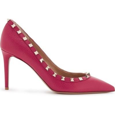ヴァレンティノ Valentino レディース パンプス シューズ・靴 Garavani Rockstud 85 Raspberry Leather Pumps Pink