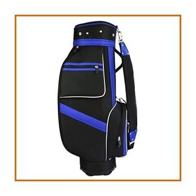 ゴルフ YEZIL Golf Ball Nylon Golf Bag Standard Bag Golf Stand Bag Waterproof Golf Carry Bag Black and Blue Ball Bag with 5 Plunger Holes