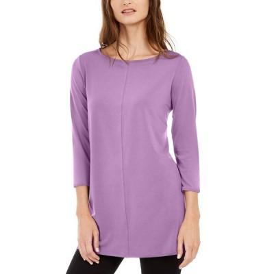アルファニ カットソー トップス レディース 3/4-Sleeve Tunic, Created for Macy's Violet Tulle
