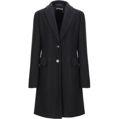 ANGELA MELE MILANO コート ブラック 44 ポリエステル 80% / レーヨン 20% コート