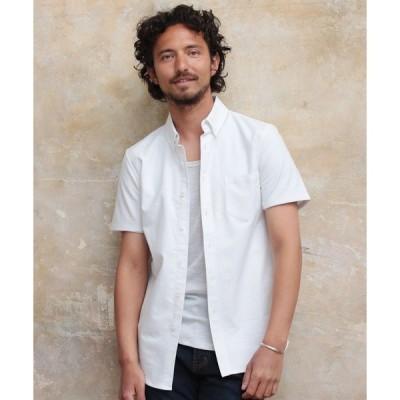 シャツ ブラウス ストレッチ オックスフォード ボタンダウン シャツ 半袖